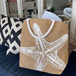 Starfish Woven Beach Bag